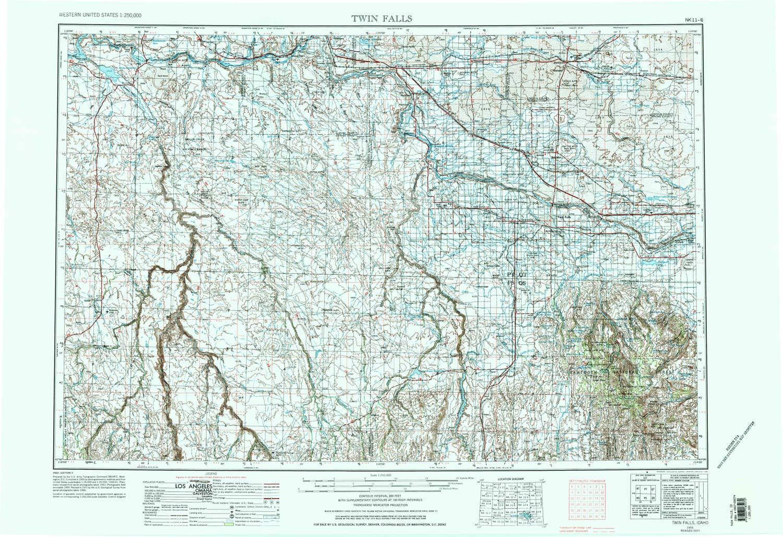 Amazon Com Yellowmaps Twin Falls Id Topo Map 1 250000 Scale 1 X