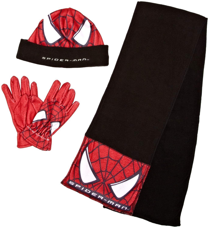 Spiderman Marvel Conjunto bufanda, gorro y guantes Niños,: Amazon ...