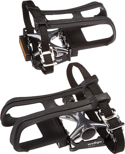 Wellgo Toe Straps for Bike Pedals Nylon Toe Clip Straps Black