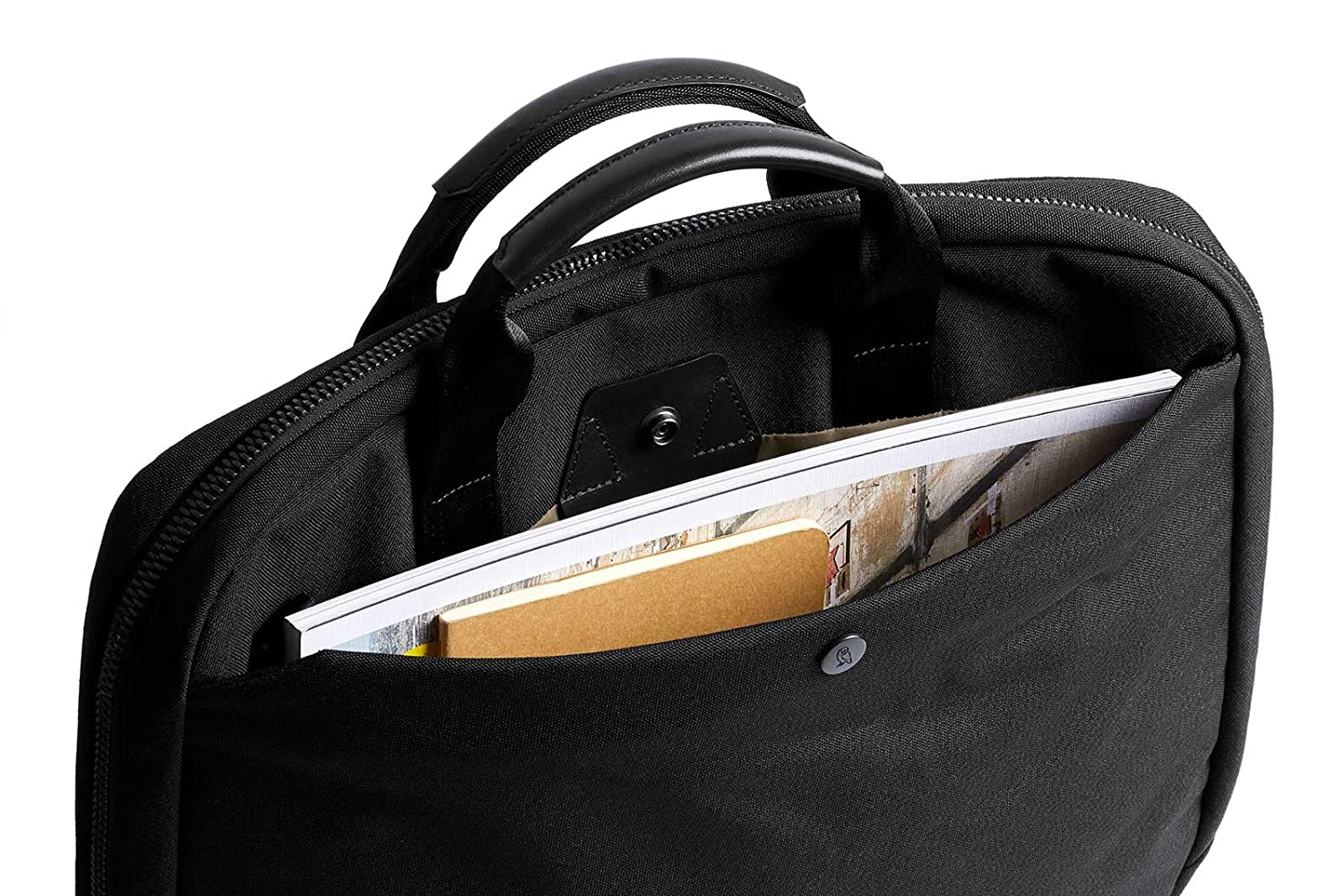 13 laptop, notes, cables, everyday essentials Moss woven laptop bag Bellroy Laptop Brief 13