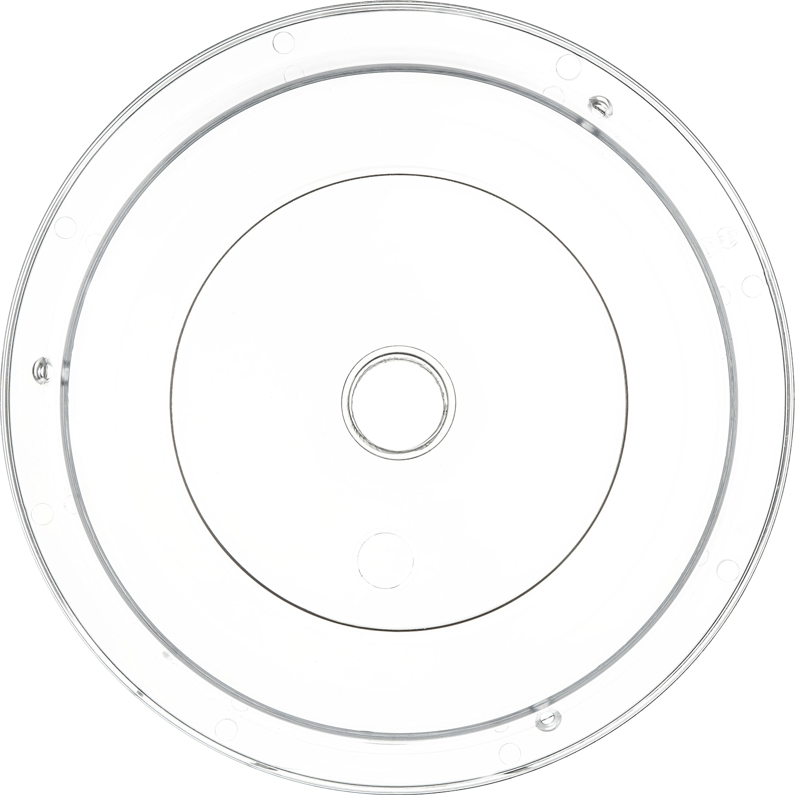 Carlisle 190007 Polycarbonate Plate Cover, 9.37'' Bottom Diameter x 2.56'' Height, Clear (Case of 12) by Carlisle (Image #2)