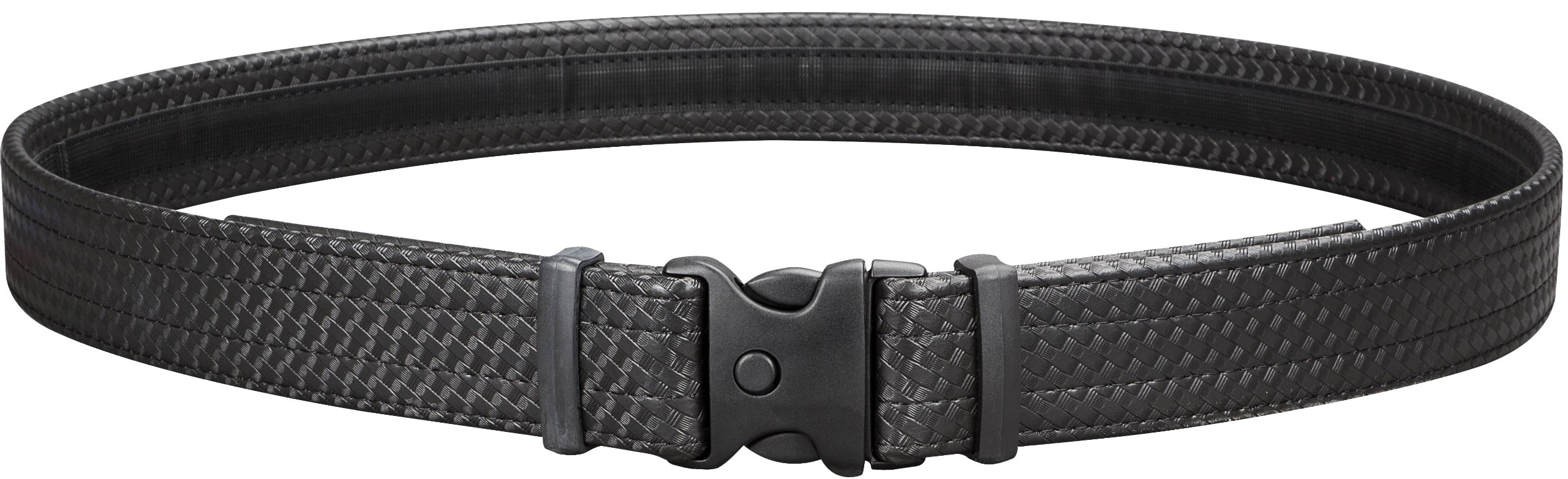 Uncle Mike's Law Enforcement Mirage Basketweave Hook and Loop Lining Ultra Duty Belt (3X56-60 - Inch, Black)