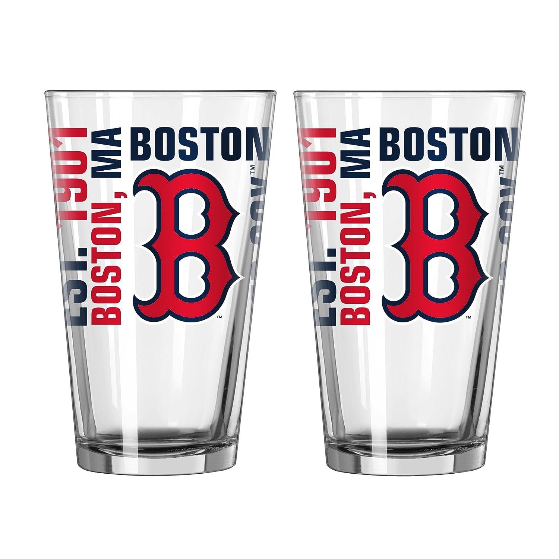 Boelter Brands MLB Milwaukee Brewers Retro Spirit Pint 16-ounce 2-Pack 419362