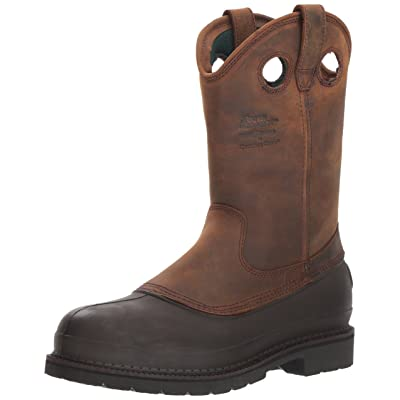 Georgia Boot Muddog Wellington Work Boot, Brown - 13 D(M) US   Industrial & Construction Boots