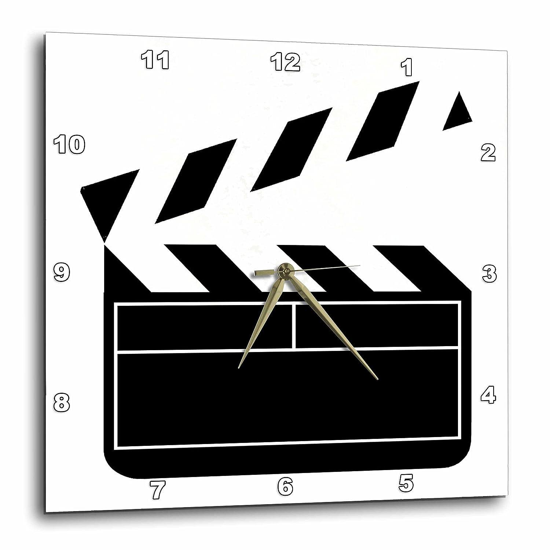 3dRose dpp/_43830/_2 Movie Clapboard-Wall Clock 13 by 13-Inch