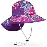美国儿童大檐鱼尾防晒帽 (S, 枚紫色)