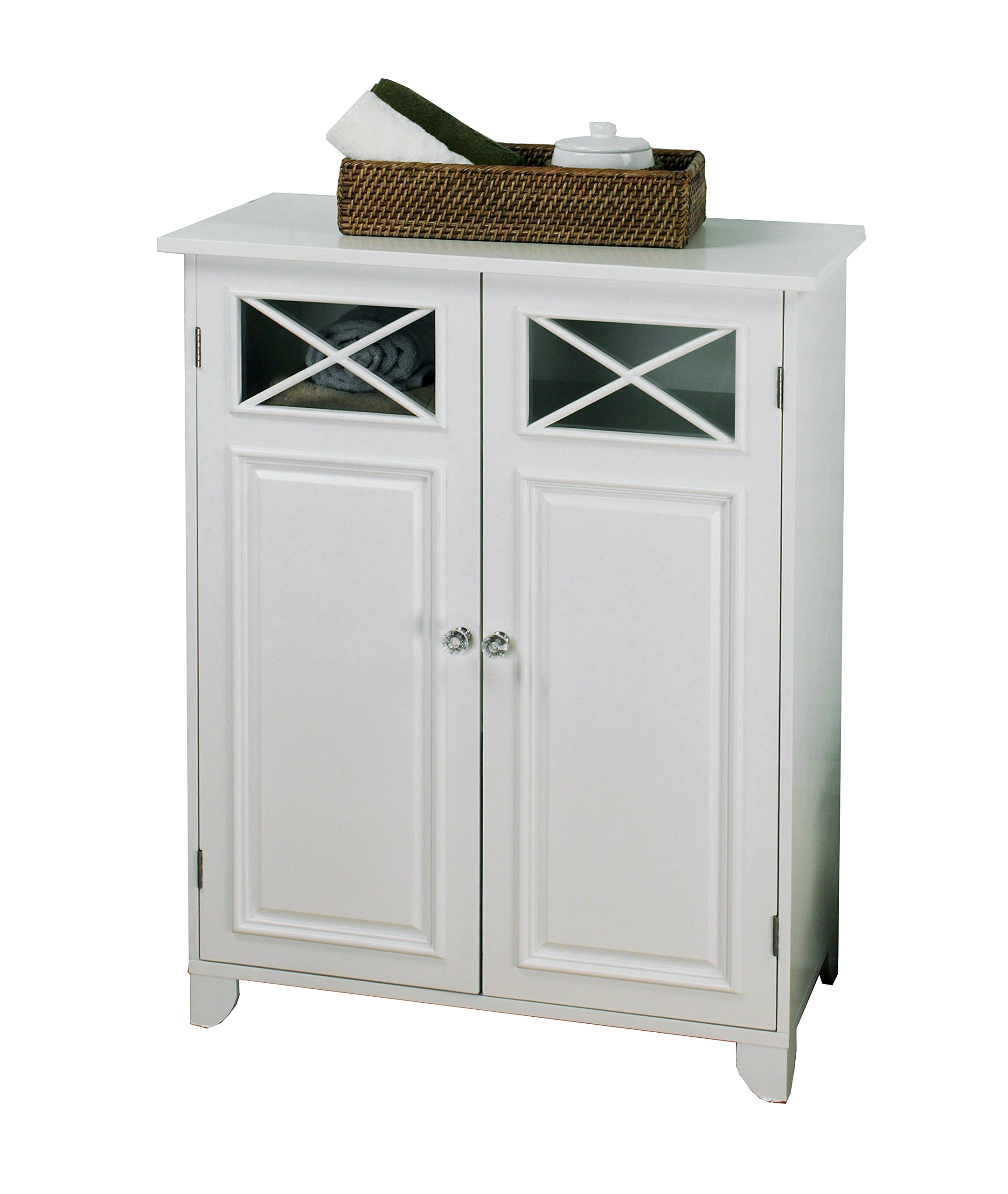 Elegant Home Fashions Dawson Collection Shelved Floor Cabinet, White by Elegant Home Fashions (Image #3)