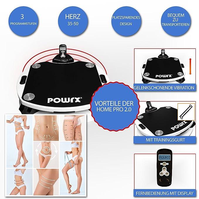 POWRX Home 2.0 Pro Vibration Plate vibración Dispositivo/B - Ware ...