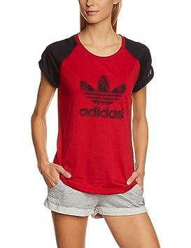 t shirt adidas rouge et noir femme