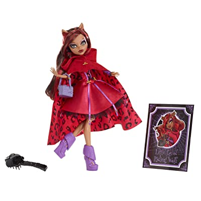 Monster High Scarily Ever After Doll Little Dead Riding Wolf (Clawdeen Wolf): Toys & Games