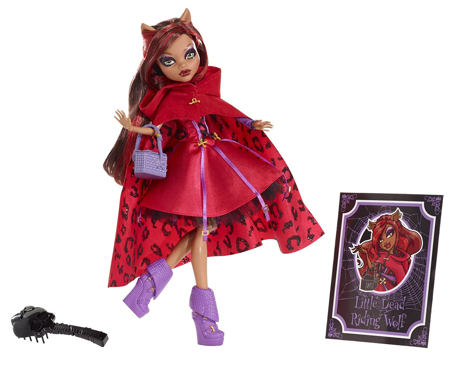 Monster High Svoiturey Tales Poupée Clawdeen Wolf - Peu Dead Riding Wolf