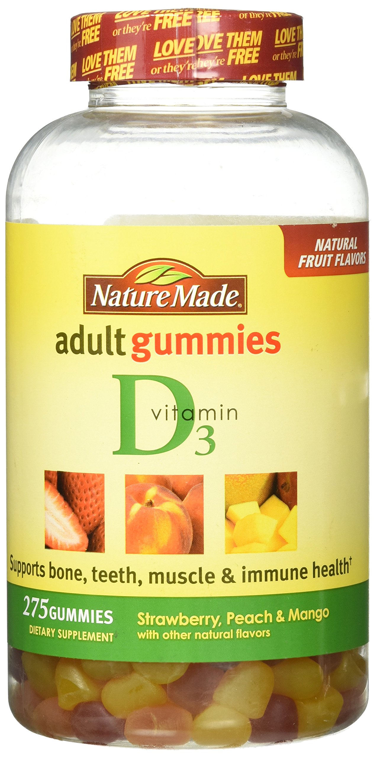 Nature Made Vitamin D3  Adult Gummies - 275 Gummies