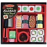 Melissa & Doug 2608 Sushi Slicing Wooden Play Food Set