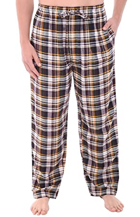Del Rossa Men's Flannel Pajama Pants, Long Cotton Pj Bottoms at ...