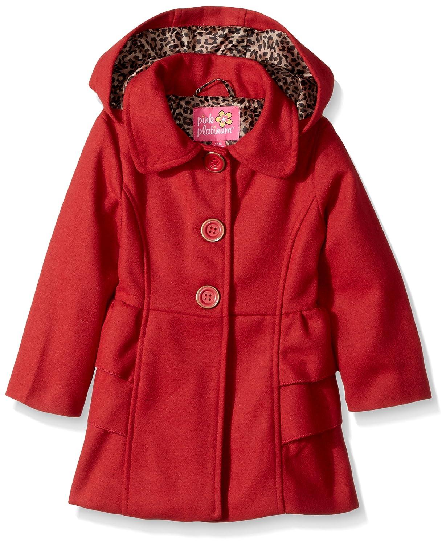 c99046dd13c5 Amazon.com  Pink Platinum Baby Girls Adorable Side Ruffles Wool ...