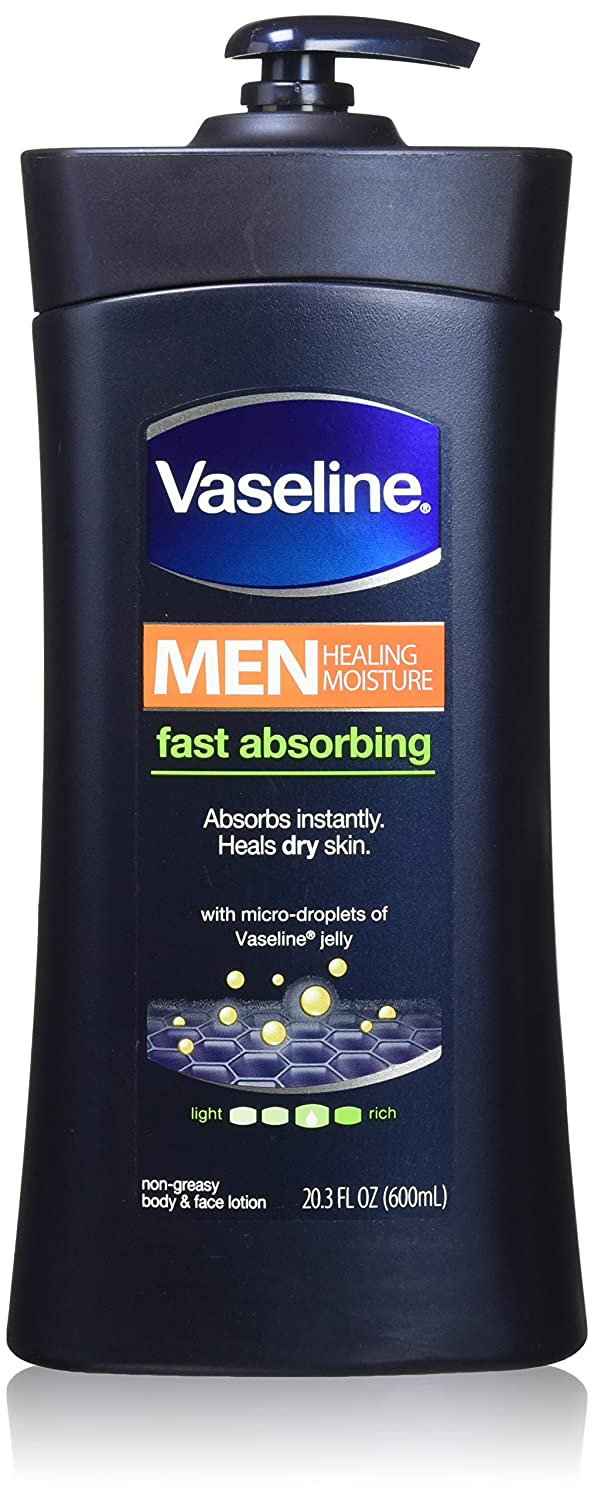 Vaseline Men Body and Face Lotion , 20.3 Ounce Bottle(Pack of 2)