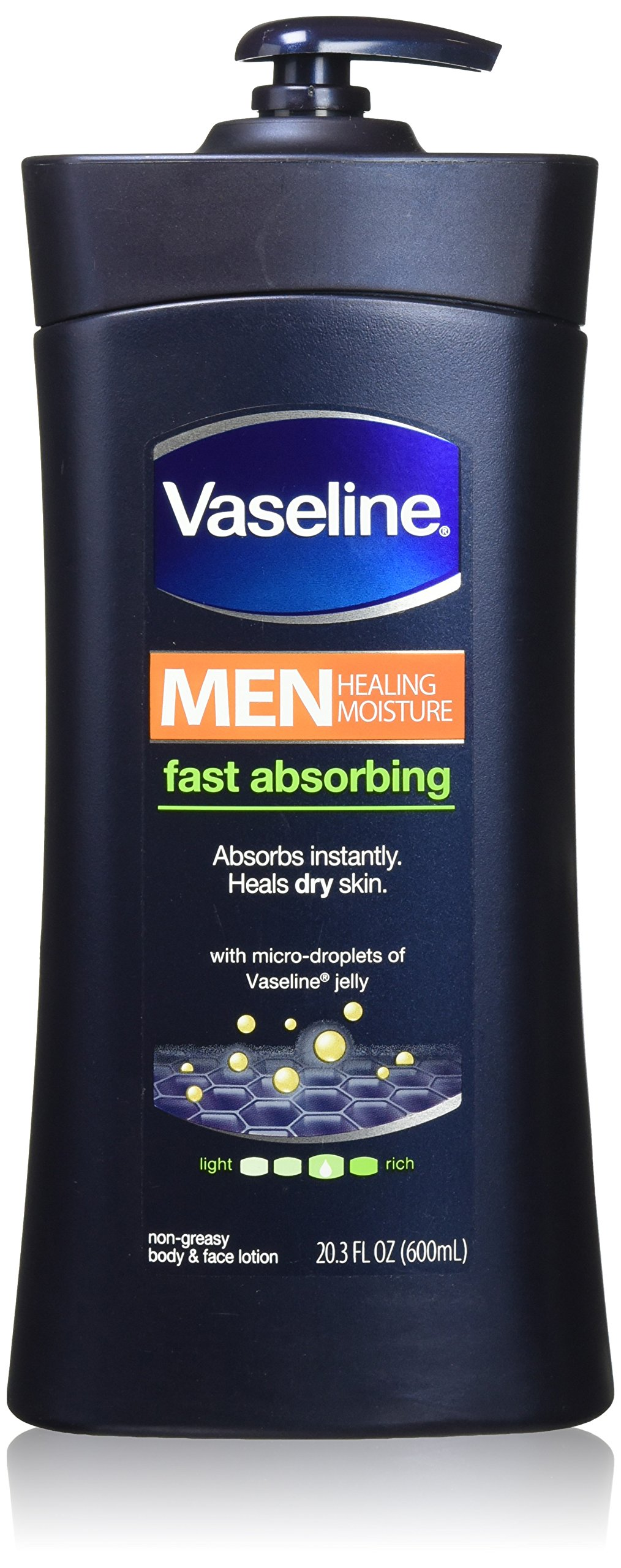 Vaseline Men Body and Face Lotion , 20.3 Ounce Bottle(Pack of 2) by Vaseline