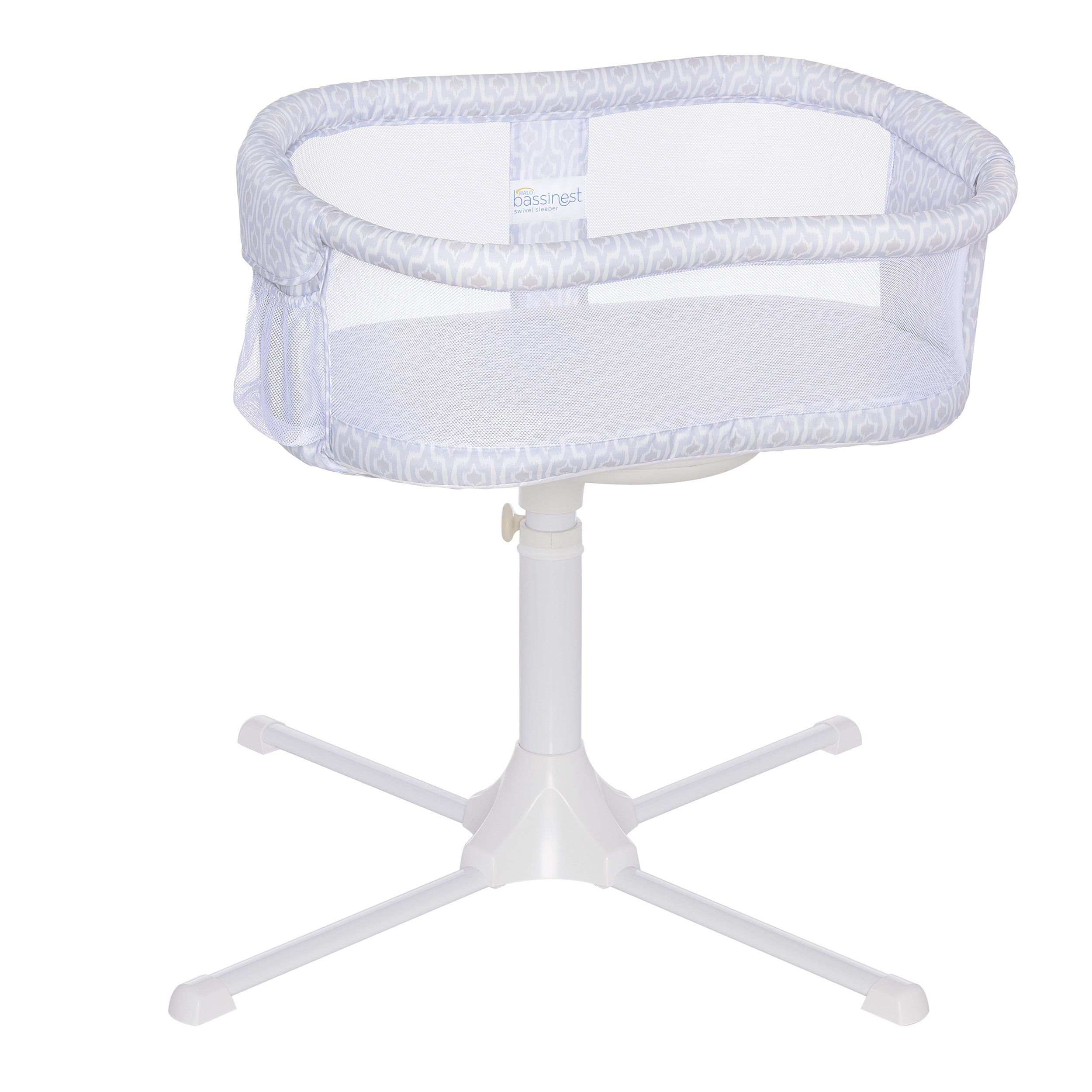 HALO Bassinest Swivel Sleeper Bassinet - Essentia Series, Blue Ikat
