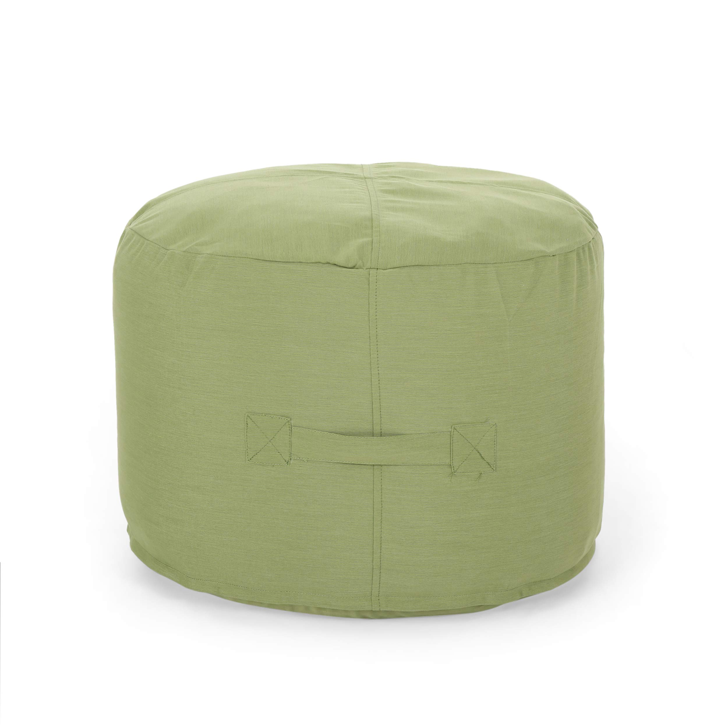 Great Deal Furniture 307772 Crystal Cay Outdoor Water Resistant 2' Ottoman Pouf, Green