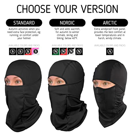 3 In 1 Winter Windproof Outdoor Sports Face Mask Ski Snowboard Hood Hat Neck Warmer Cap Camping Hiking Thermal Scarf Fine Craftsmanship Men's Scarf Sets Men's Accessories