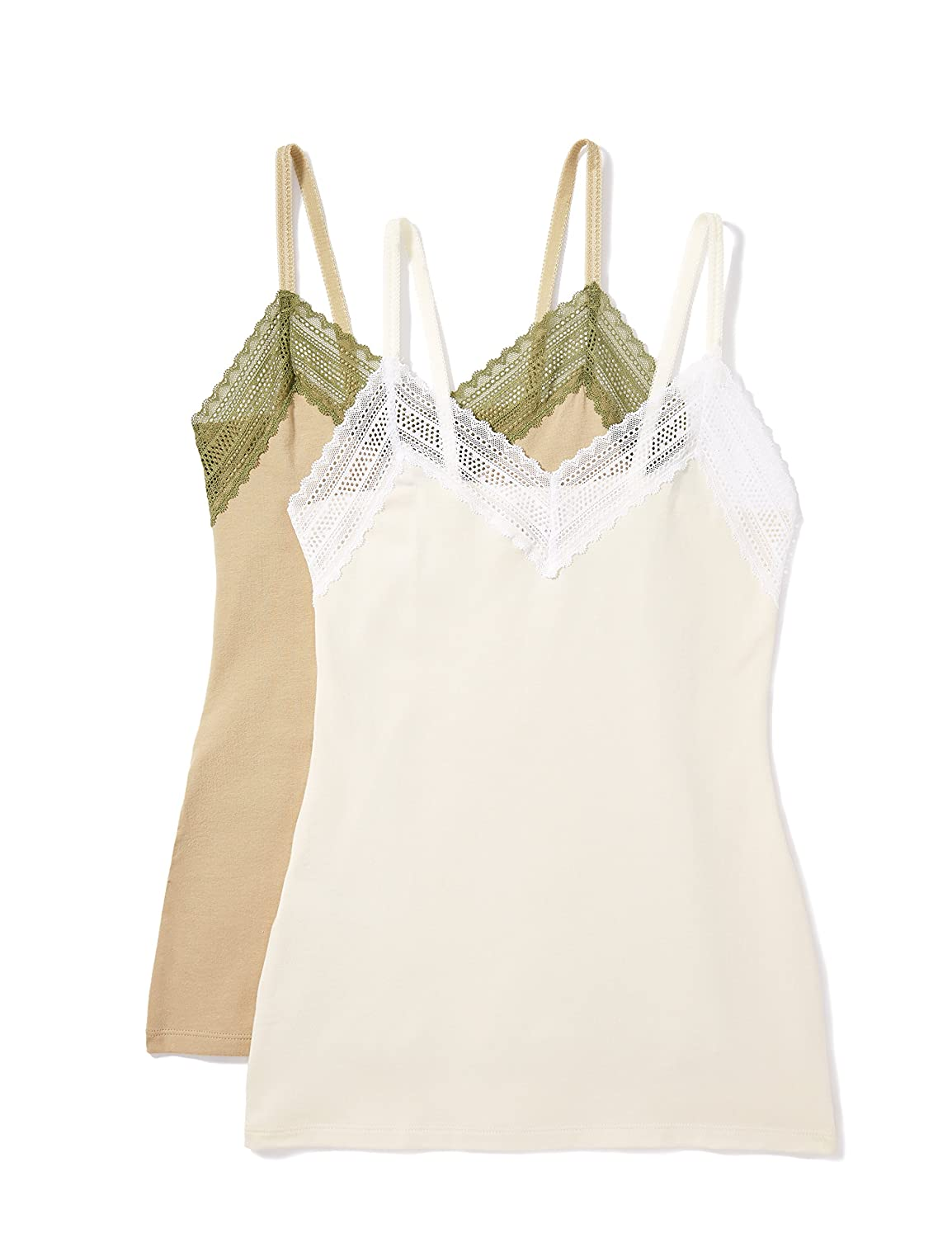 Multicolore Cream//Khaki Iris /& Lilly Tank Cotton Canottiera Donna X-Large