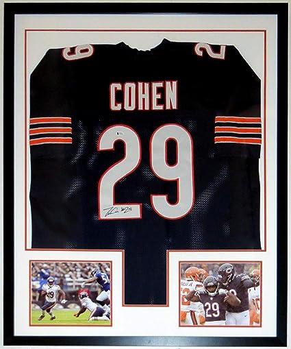 Tarik Cohen Signed Chicago Bears Jersey - Beckett Authentication Services  BAS COA - Custom Framed   2c881494a