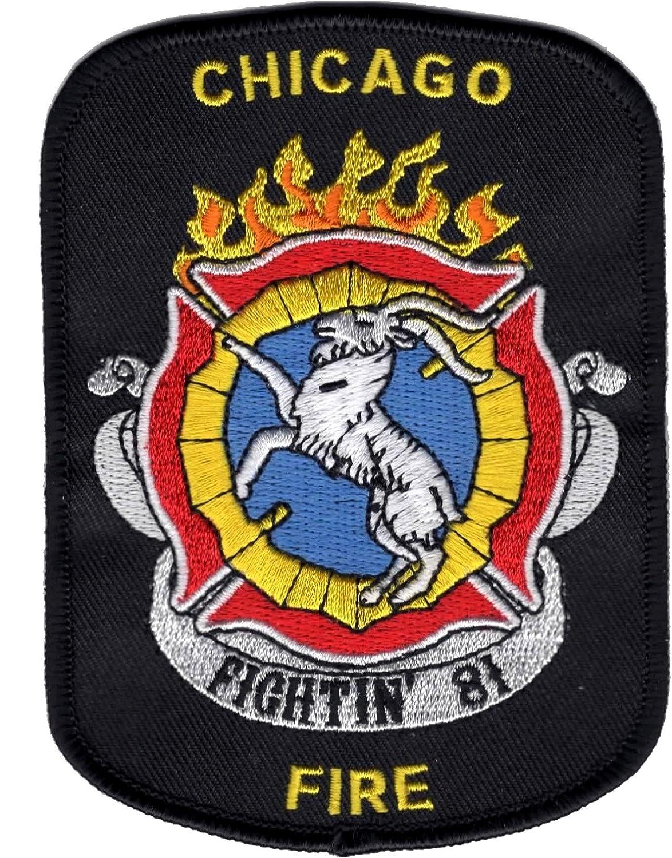 Chicago Fire Fightin`81 patch (Abzeichen), Grösse: 8,4 x 11,5 cm Grösse: 8 CHI-81