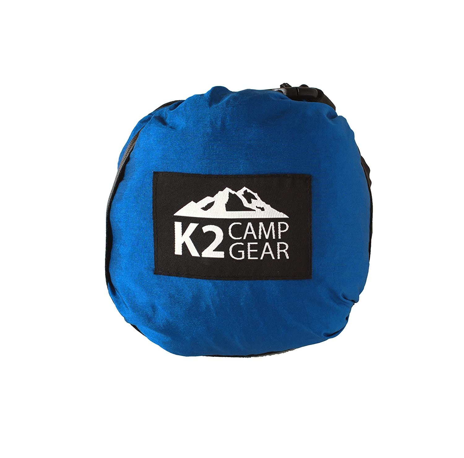 K2 Camp Gear Outdoor Camping Hammock – Premium Aluminum Carabiners and Hanging Ropes Included