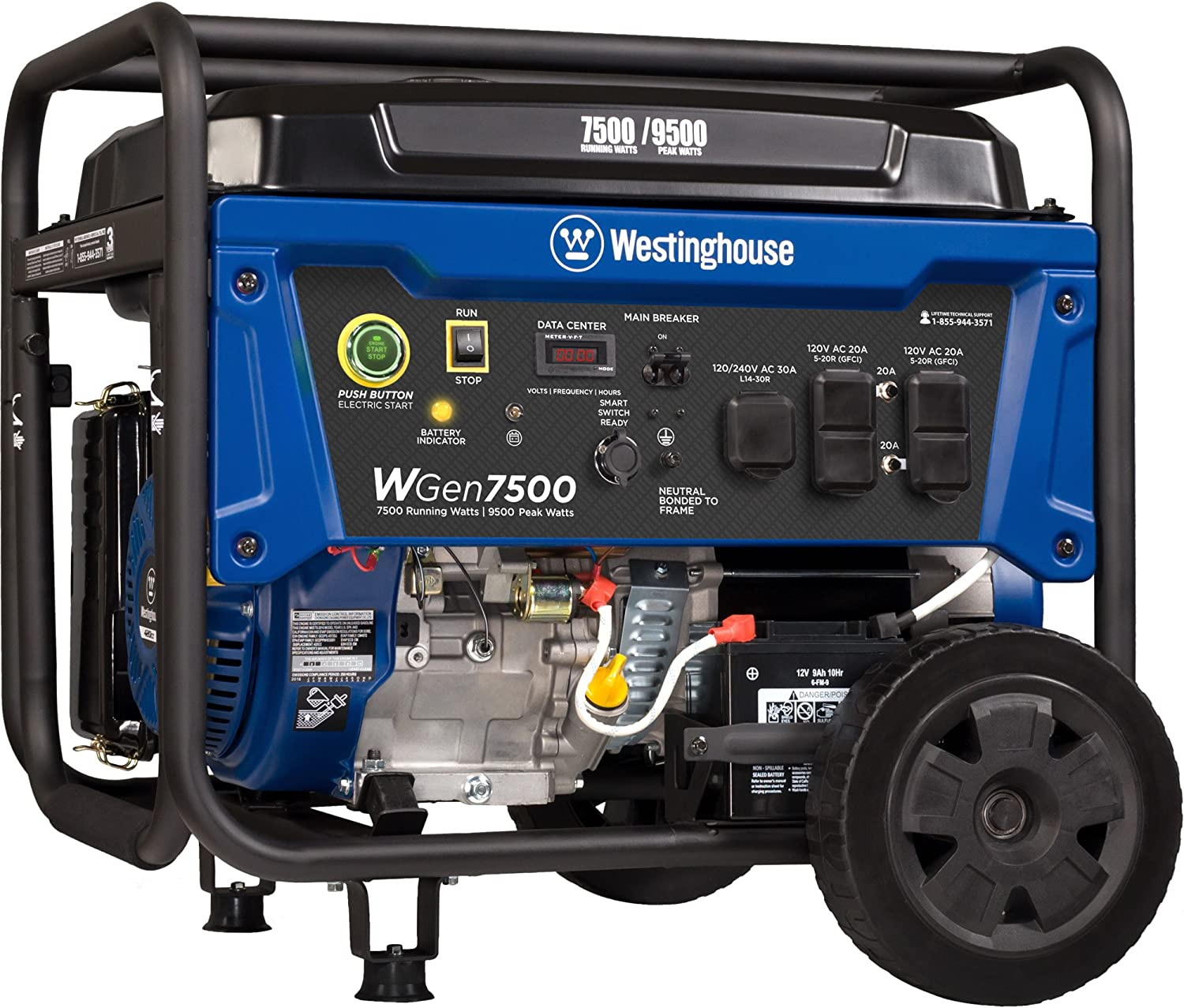 Image result for Westinghouse WGen7500 Portable Generator
