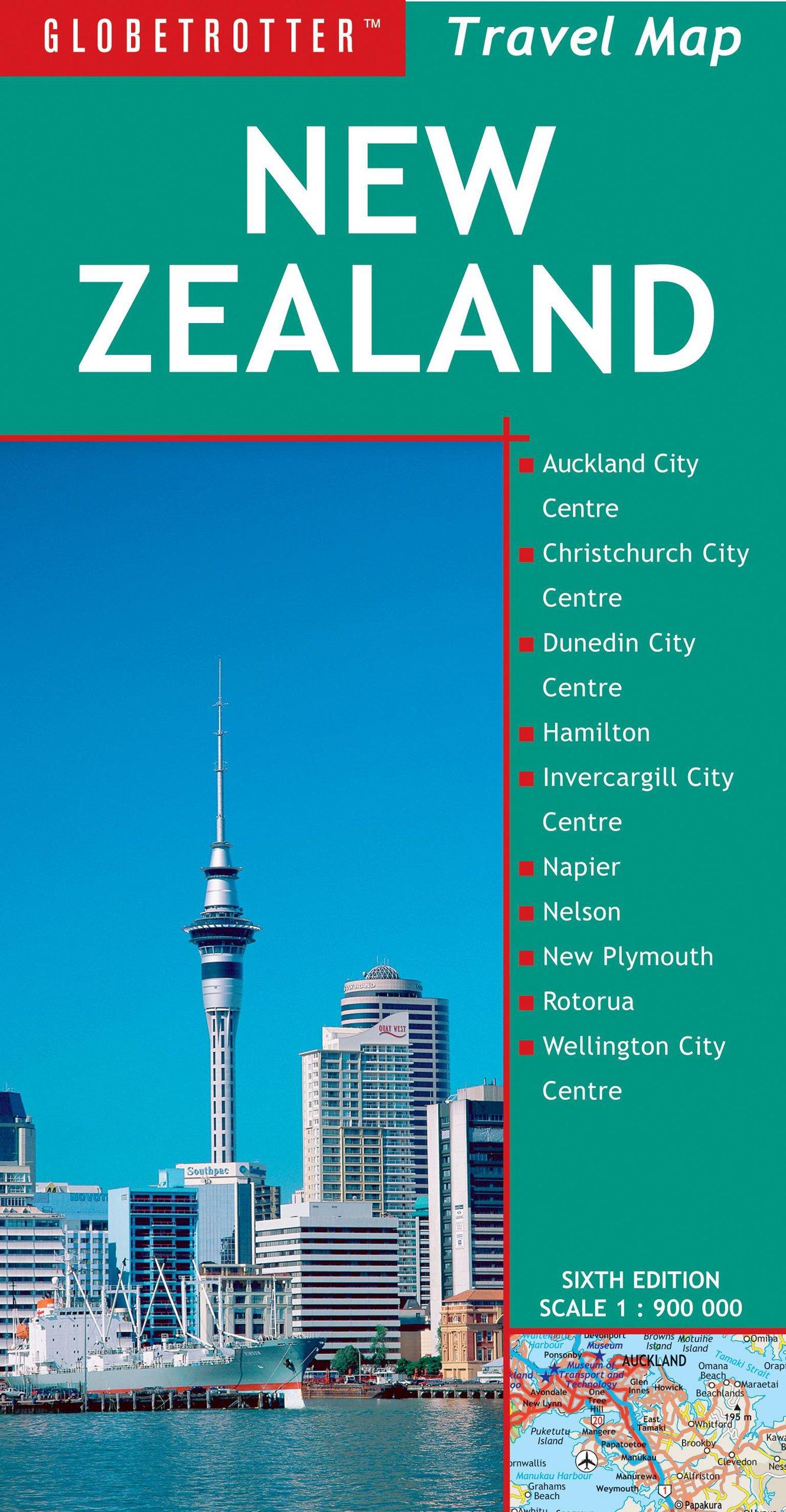 Travel Map New Zealand (Globetrotter Travel Map)