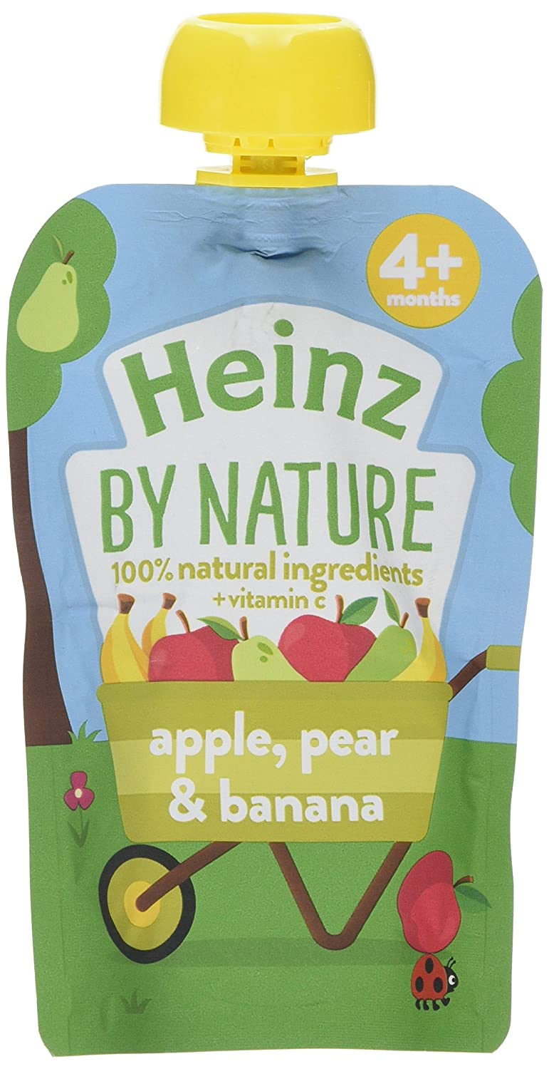 Heinz Apple Pear and Banana Fruit Pouch, 100 g (Pack of 6) The Kraft Heinz Company 76011088