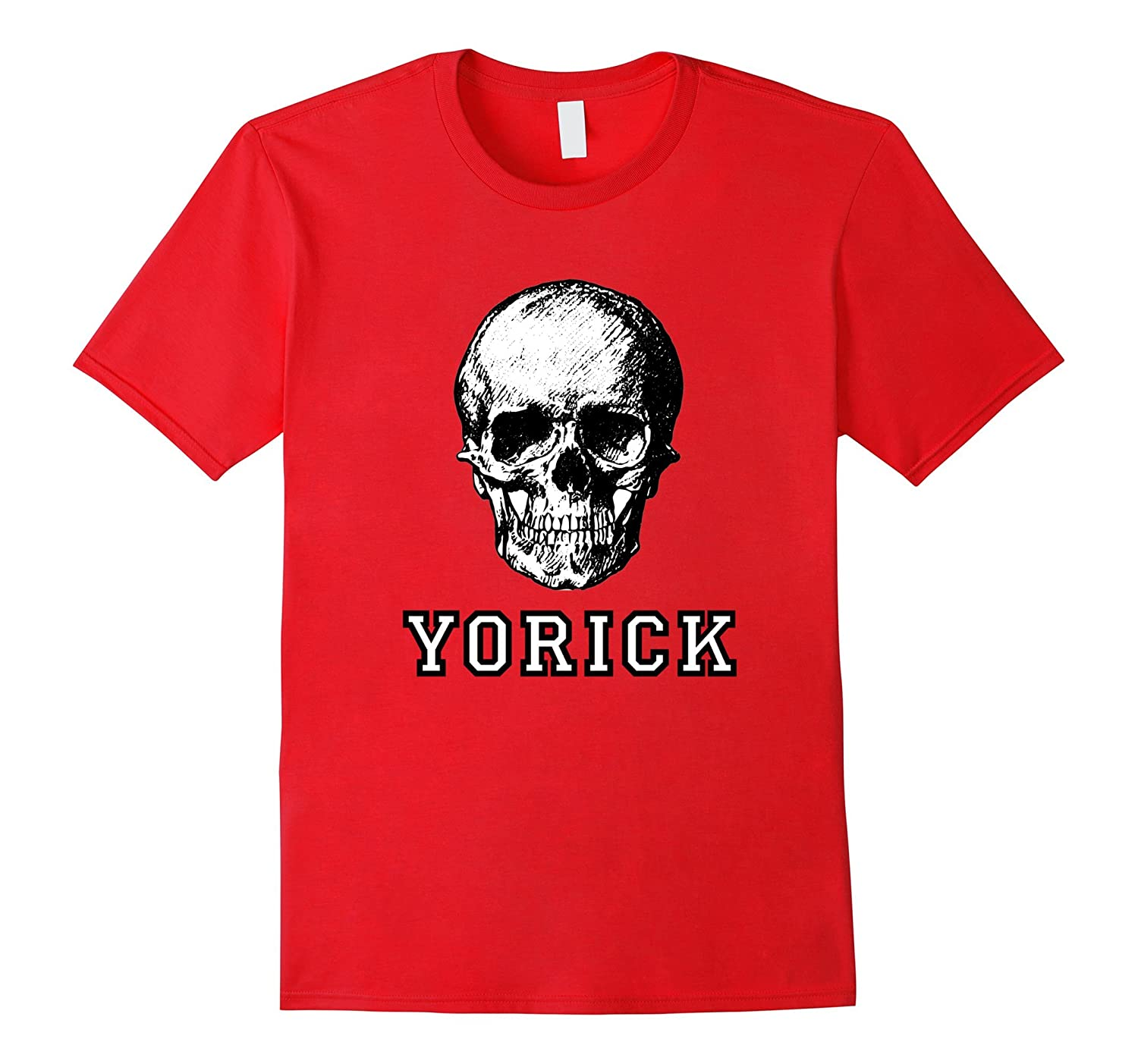 Yorick's Skull from Hamlet the Shakespeare Play Tshirt Gift-CL