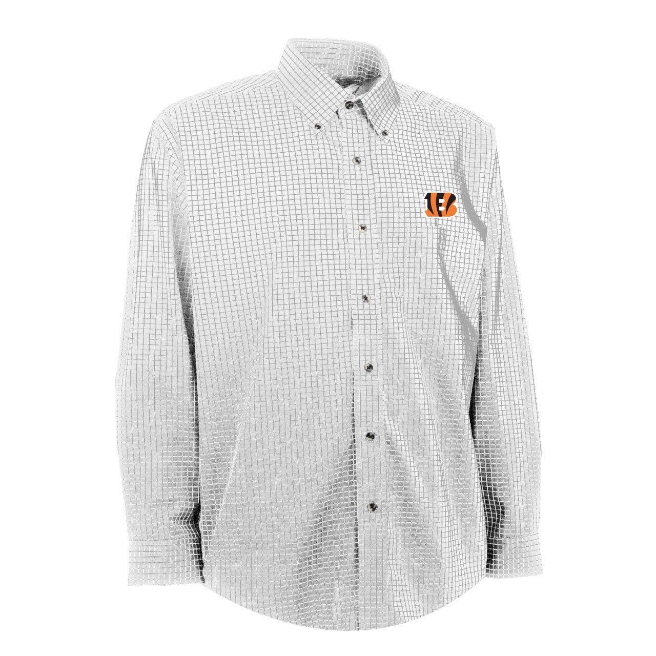 NFLメンズシンシナティベンガルズEsteem織ドレスシャツ Small ホワイト/グレー B0082AGQYY