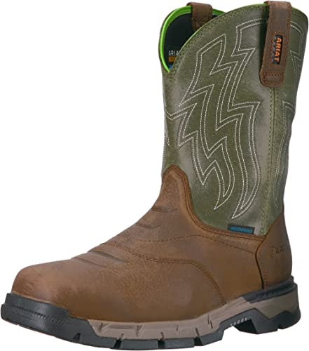 Mens Rebar Flex H2O Western Work Shoes