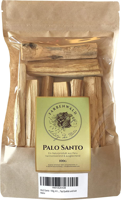 farbenwald direkt aus Peru Palo Santo 6-9 Scheite Top Qualit/ät und Duft 100g