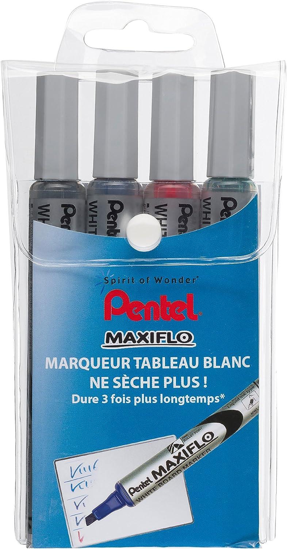 Pentel Maxiflo - Marcador para pizarra, borrable en seco, punta ...