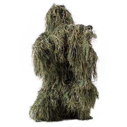 56f6f0bb42361 VIVO Ghillie Suit M/L Camo Woodland Camouflage Forest Hunting 4-Piece + Bag