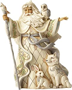 Jim Shore Heartwood Creek JS HWC Fig Wdlnd Santa w/Cane Figurine