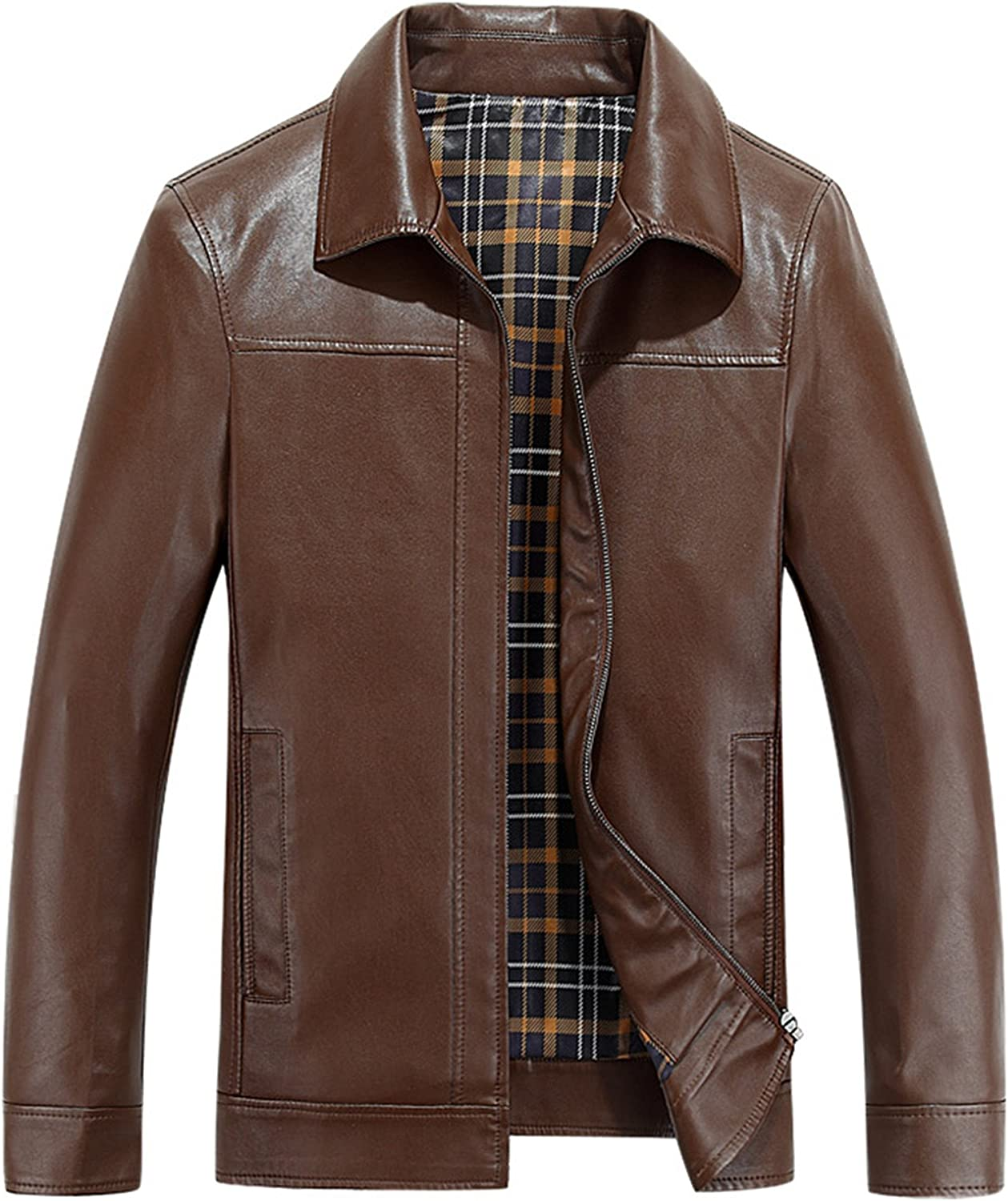 PENER Spring and autumn mens business casual leather jacket