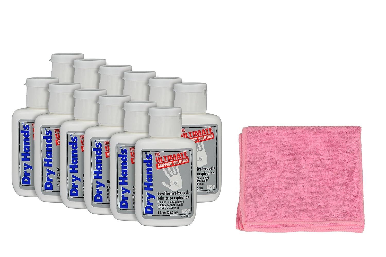 Nelson Sports Produkte 12 Unzen Pack trockene Hä nde. Ultimate greifen Lö sung und 1 Pink Mikrofasertuch Bundle Dry Hands