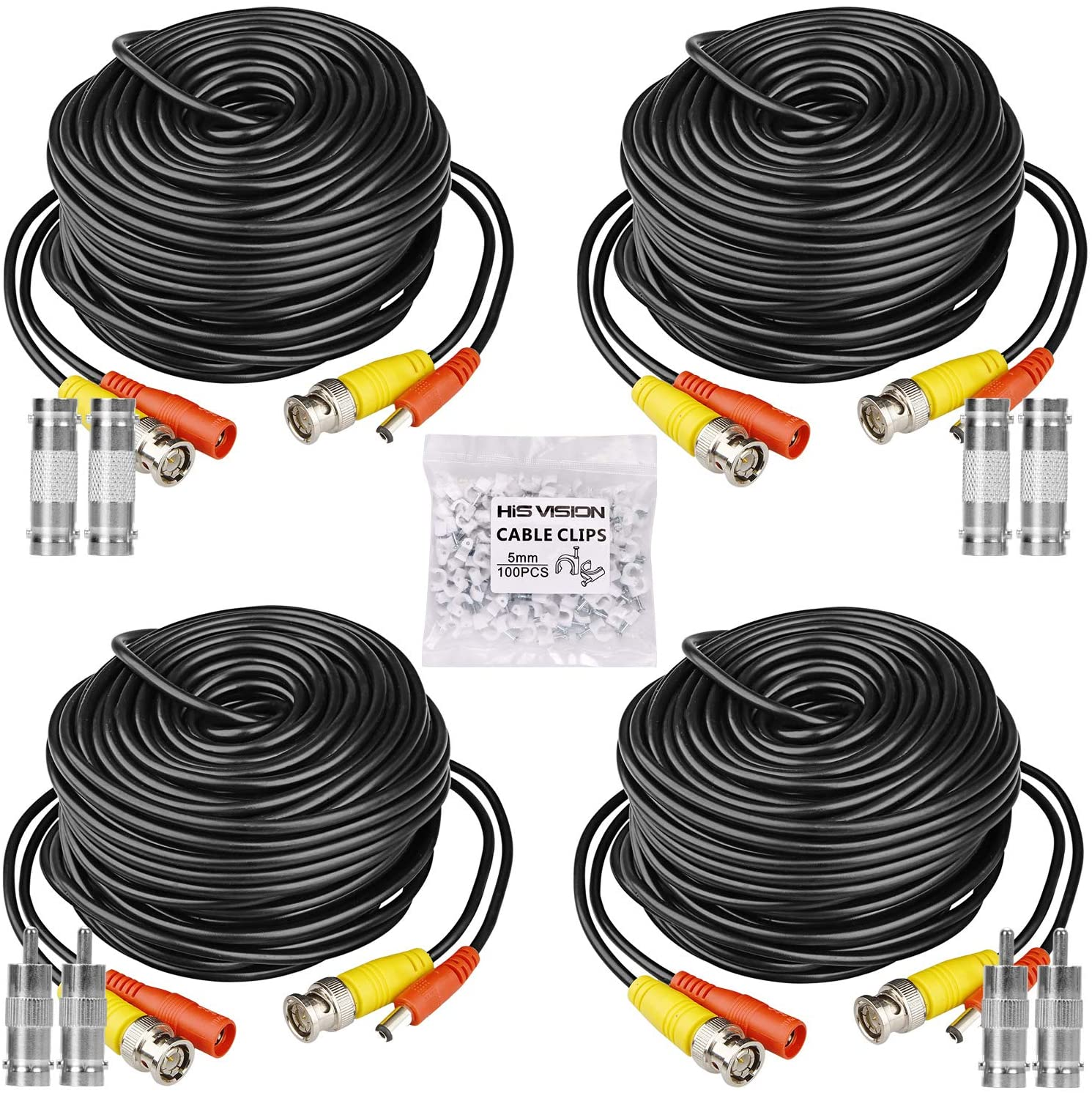 Premium Quality 4x100Ft Video and Power 4K Cable Fit Zmodo CCTV Security Cameras