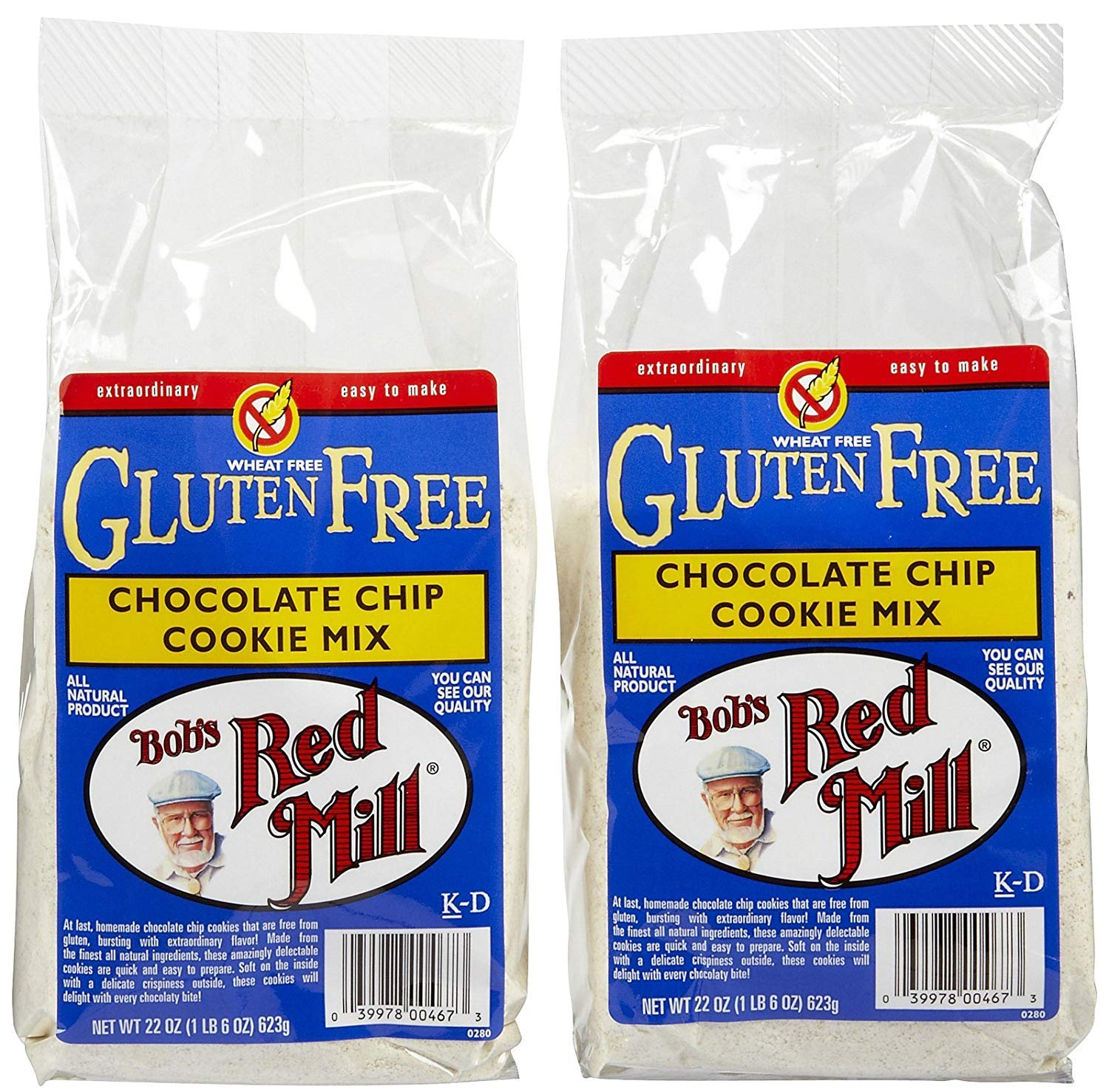 Bob's Red Mill Gluten Free Chocolate Chip Cookie Mix - 22 oz - 2 pk