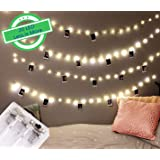 Citra Photo Clip String Lights, 20 Photo Clips 2M Battery Operated LED Clip Lights, Warm White Starry Light for Hanging Photos, Cards and Artworks