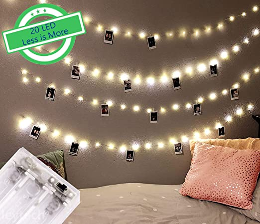 size 40 6553f 31c4d Citra Photo Clip String Lights, 20 Photo Clips 2M Battery Operated LED Clip  Lights, Warm White Starry Light for Hanging Photos, Cards and Artworks