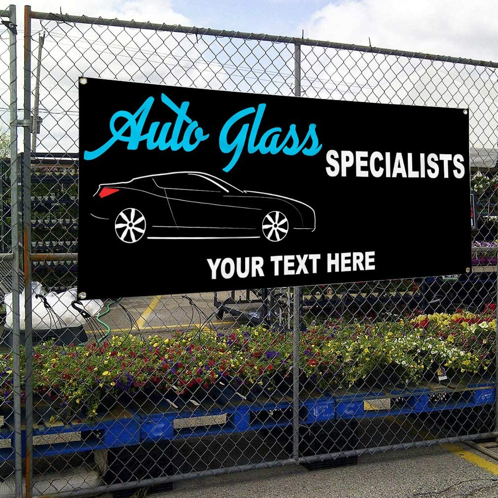 Custom Industrial Vinyl Banner Multiple Sizes Now Open Style C Personalized Text Here Business Outdoor Weatherproof Yard Signs Red 10 Grommets 56x140Inches