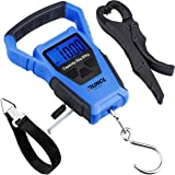 RUNCL Waterproof Fishing Scale with Fish Gripper, Digital Scale with Ruler, Weight Scale 110lb/50kgs - Backlit LCD Display, W