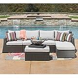Sirio Hampton 6-piece Patio Furniture Set - Grey
