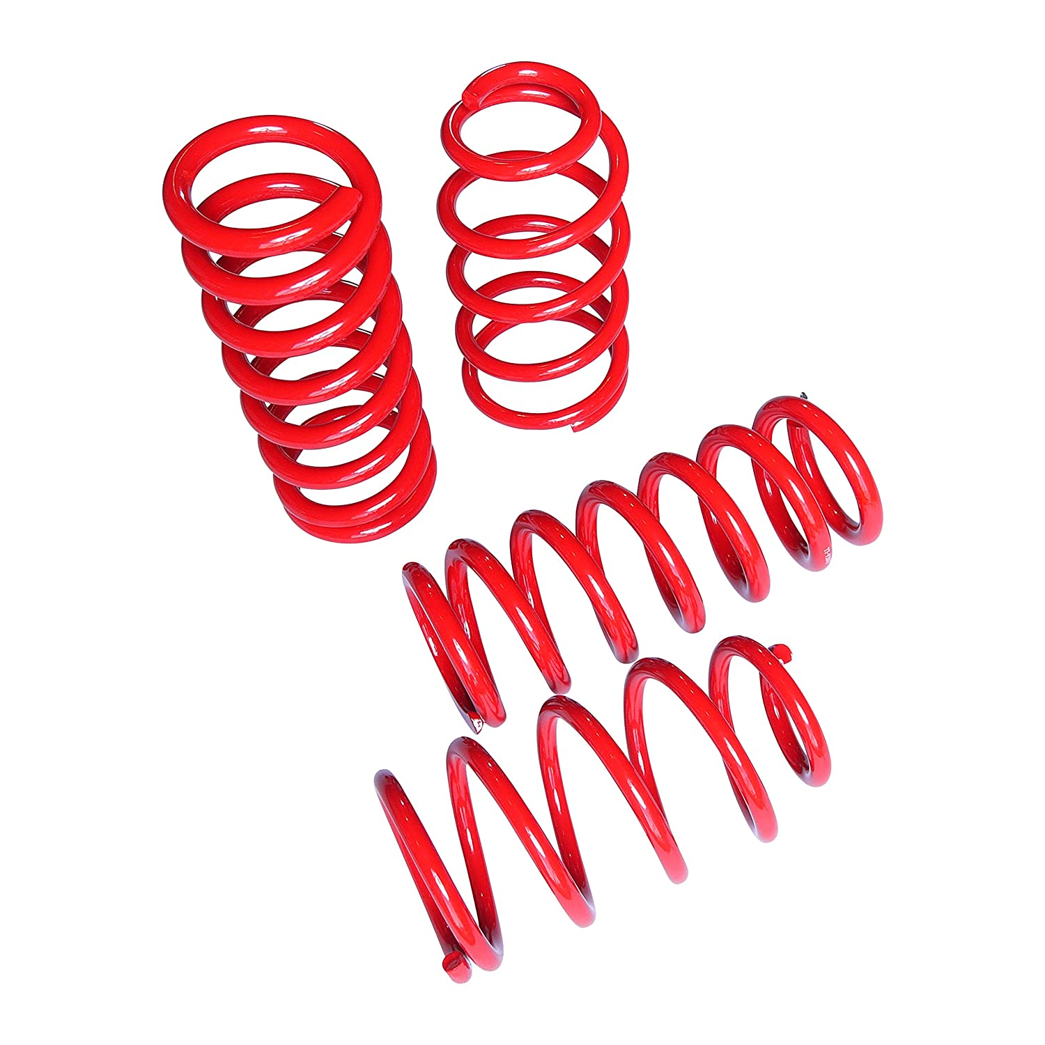 "Touring Tech Lowering Springs Charger Magnum 300C 1.8/""F//1.9/""R Red"