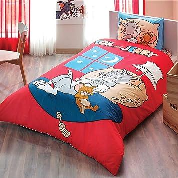 Original Lizenziert Bettwäsche Set Tom Und Jerry Design Gute Nacht