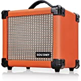 Souidmy Dual-Powered Guitar Amp, Portable Electric Guitar Amplifier with 10W Speaker, Guitar Amplifier Includes Gain/Bass/Tre